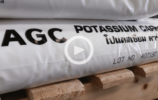 AGC Polybag contained potassium carbonate 25 kgs