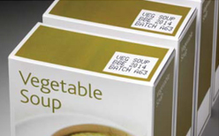 LINX 7900 printing onto Vegetable soup carton