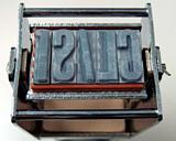 15.9mm ribtype + Justrite selfinking stamp