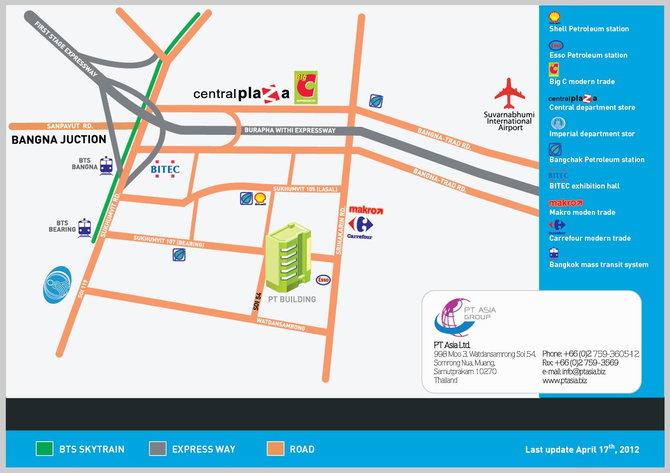 PT Asia map / last update April 17th, 2012