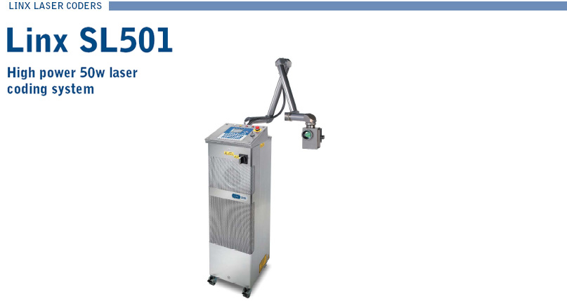 Linx SL501 High Power 50W laser coding system