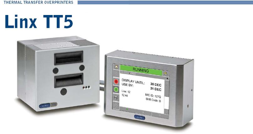 LINX TT5 Thermal Transfer Overprinters